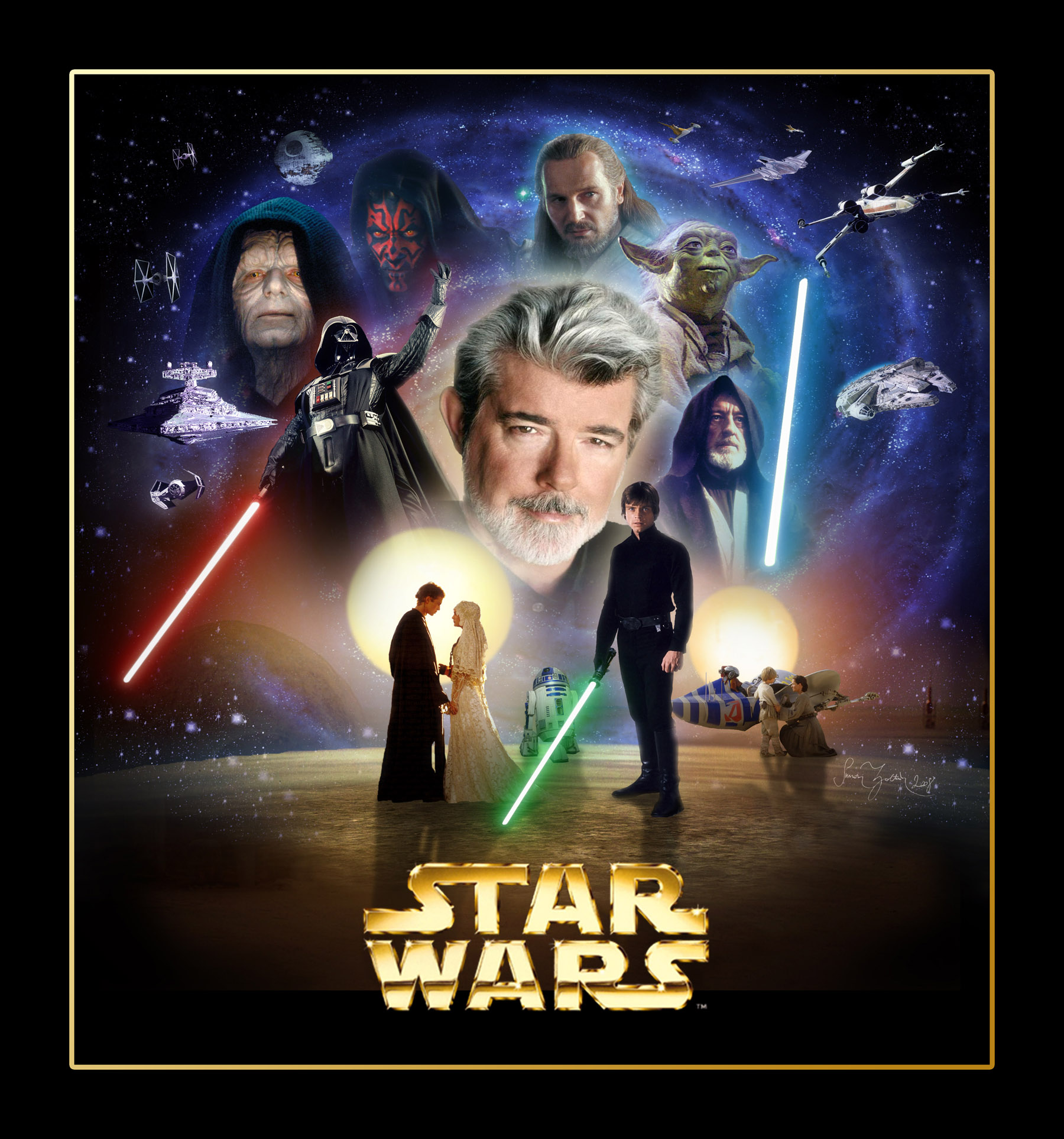 SimonZ's Home Page - Star Wars wallpapers, posters, cover designs Starwars