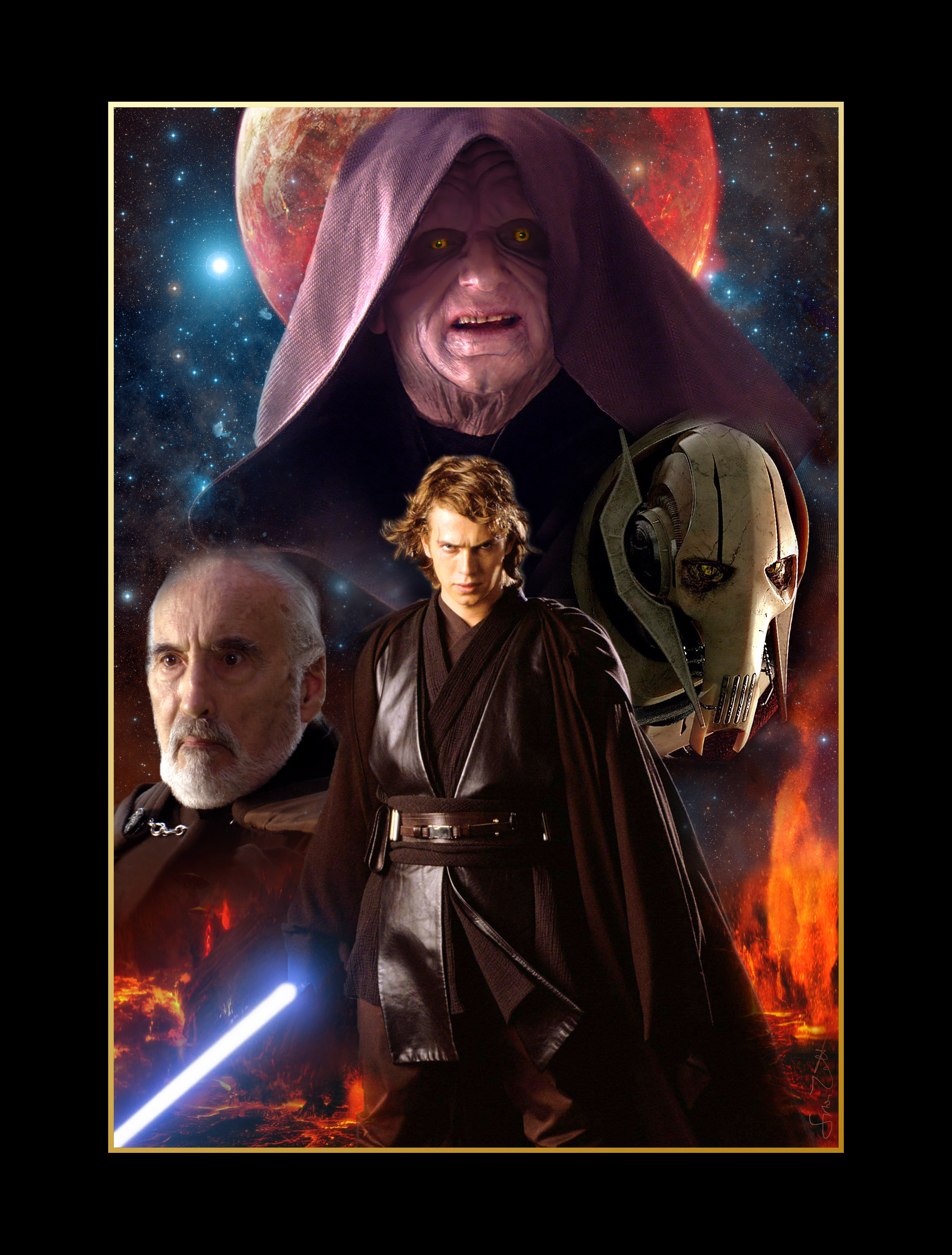 Two posters represents the good and the evil in star wars episode